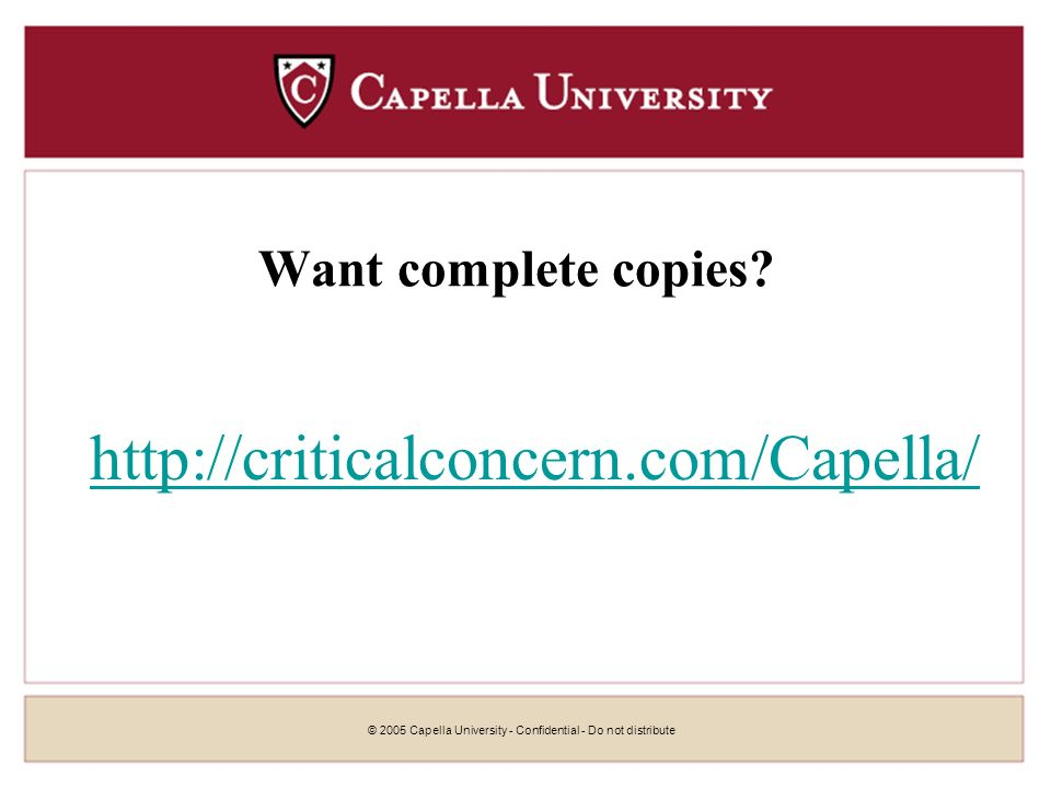 © 2005 Capella University - Confidential - Do not distribute61 With new search skills, you can receive 7 Figure Salaries!