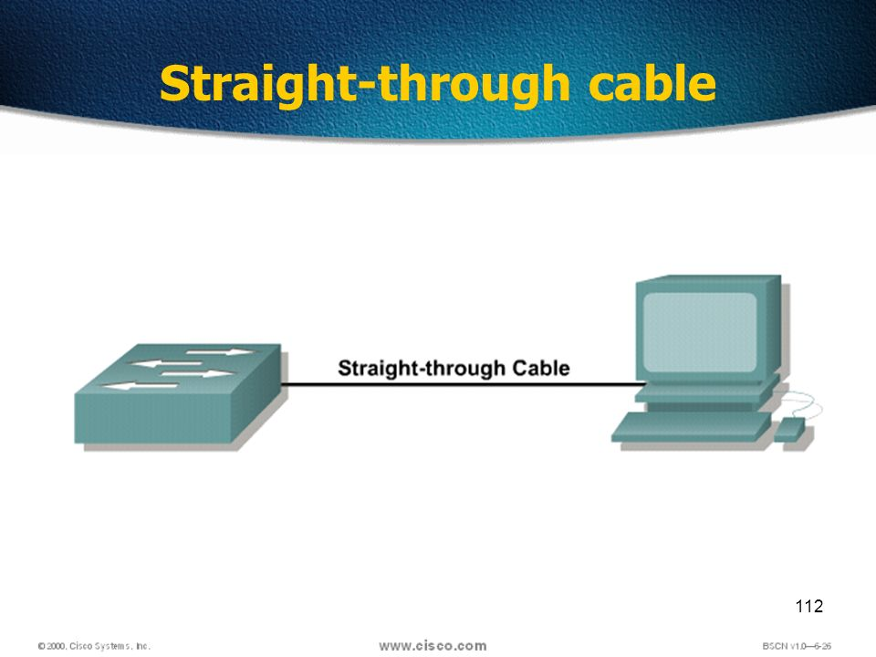 112 Straight-through cable