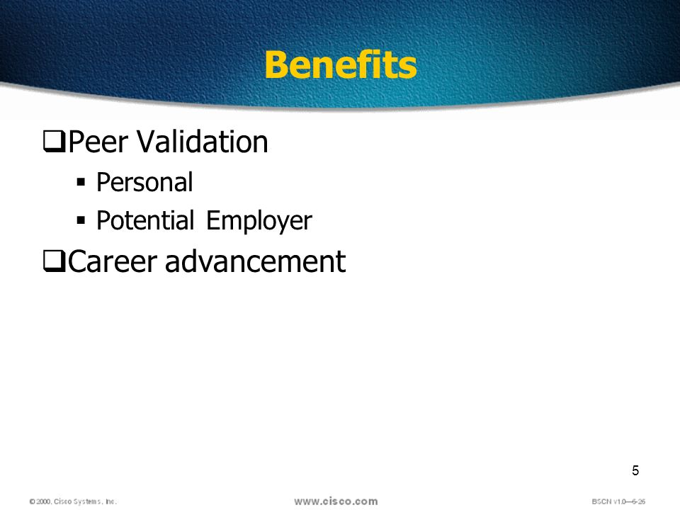 5 Benefits Peer Validation Personal Potential Employer Career advancement