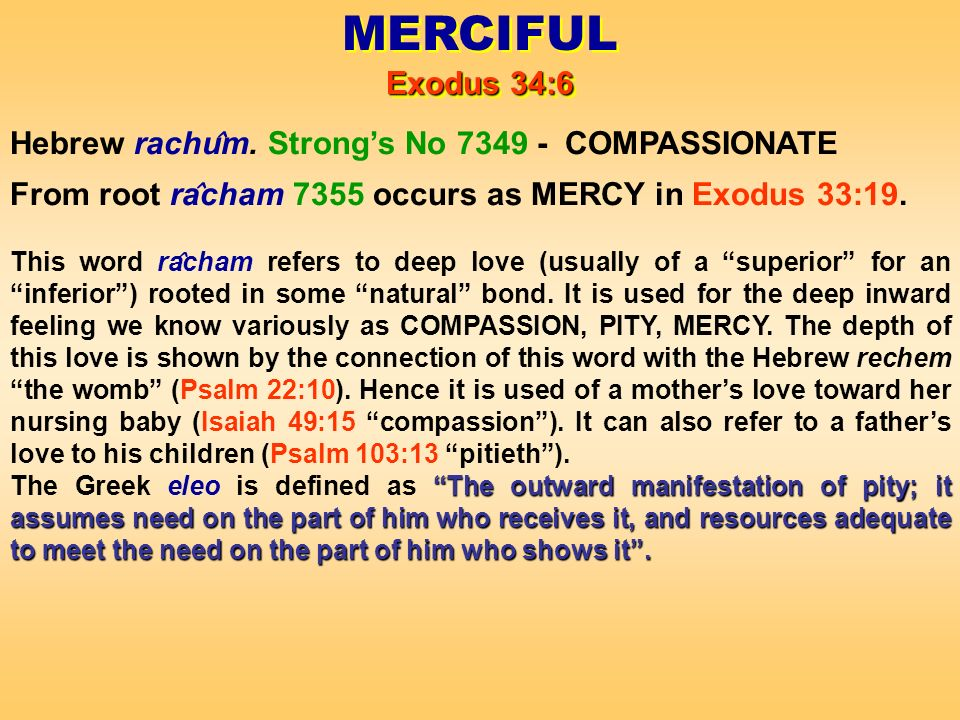 Hebrew rachu ̂ m.