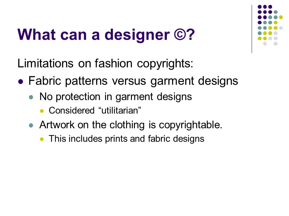 What can a designer ©.