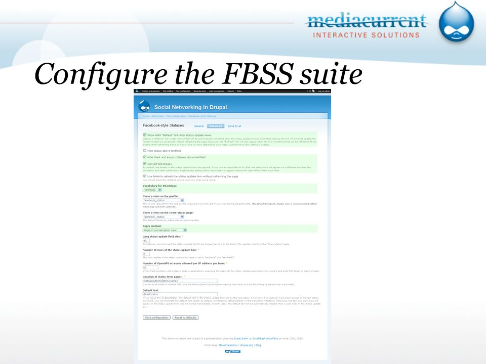 Configure the FBSS suite