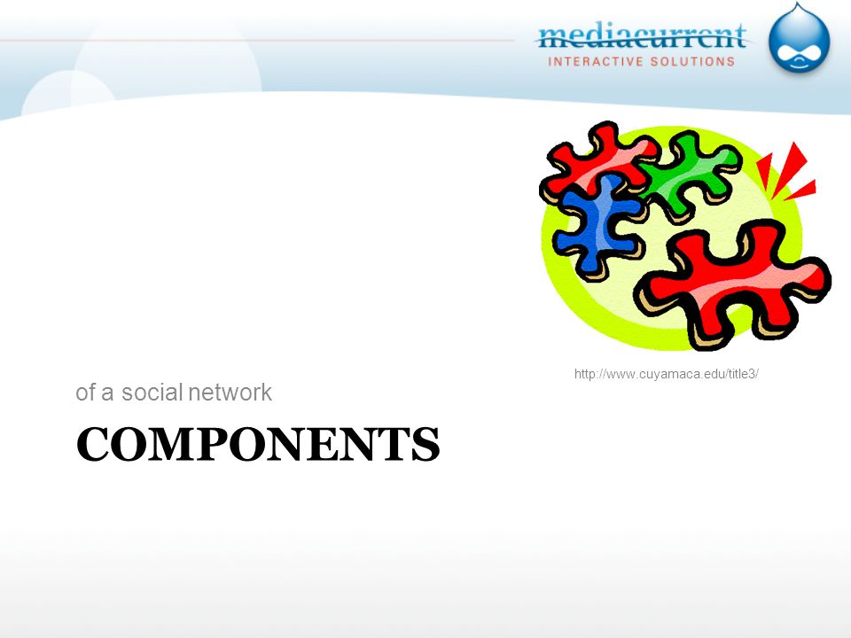 COMPONENTS of a social network