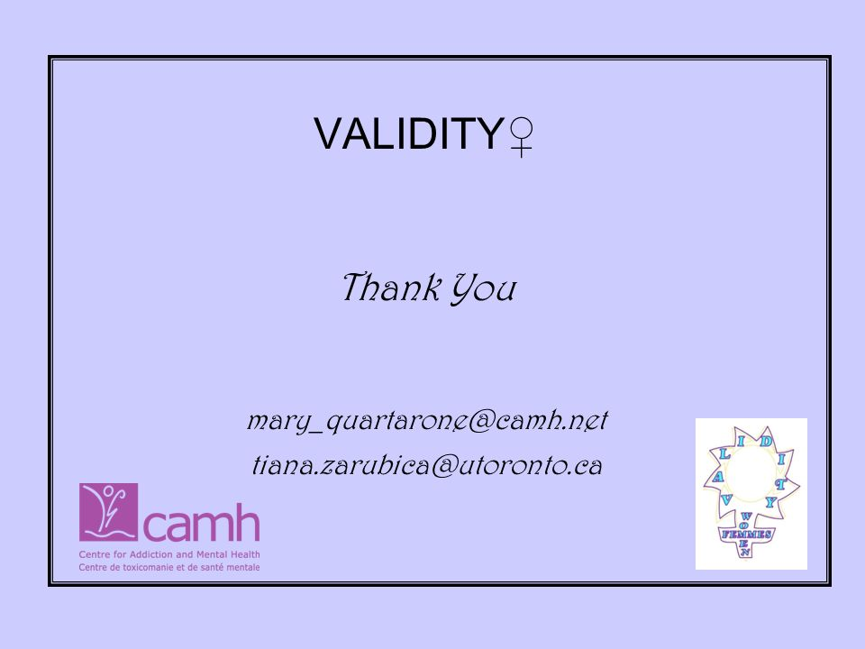 VALIDITY Thank You