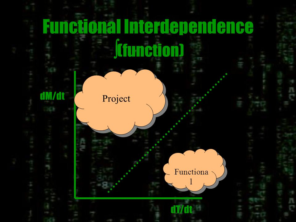 Functional Interdependence (function) dT/dt dM/dt Project Functional
