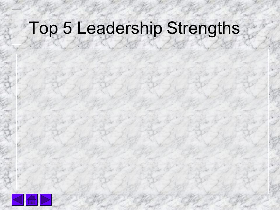 Top 5 Leadership Strengths