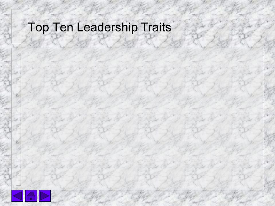 Top Ten Leadership Traits