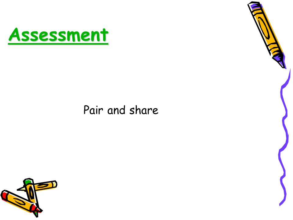 Assessment Pair and share