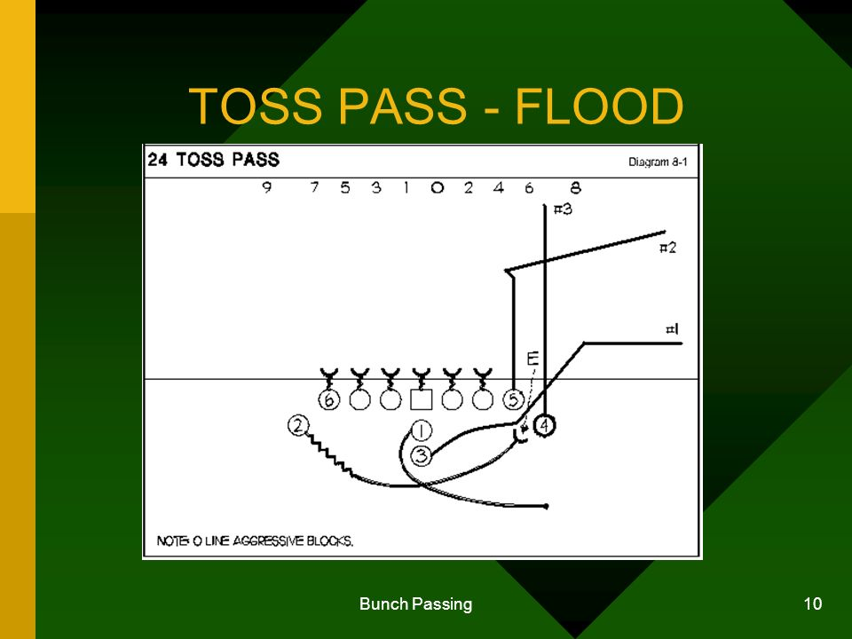 Bunch Passing 10 TOSS PASS - FLOOD