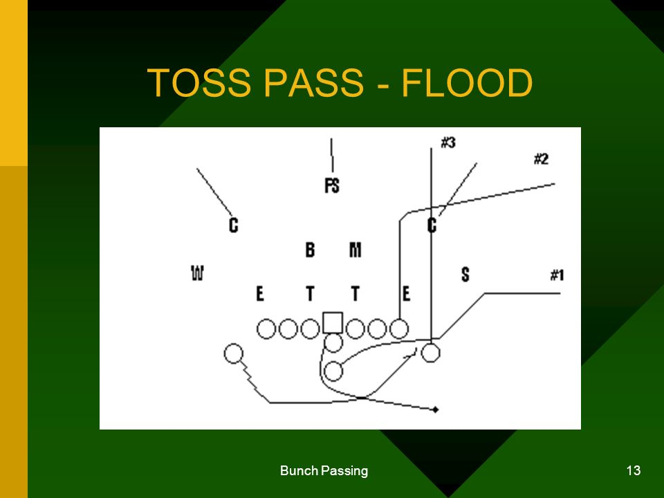 Bunch Passing 13 TOSS PASS - FLOOD
