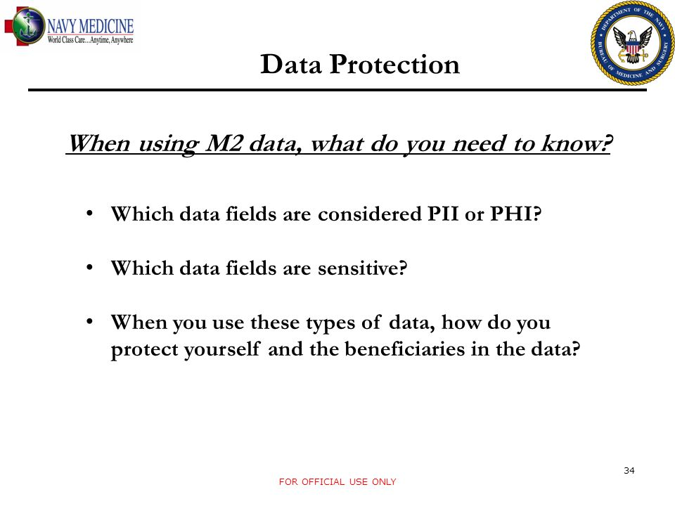 Data Protection When using M2 data, what do you need to know.