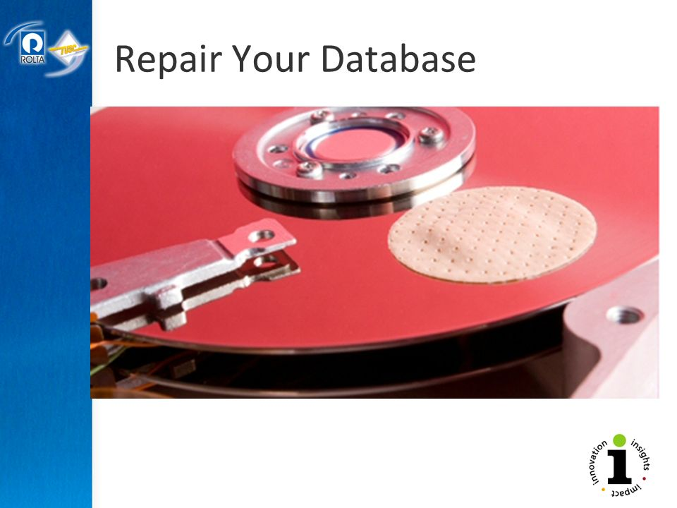 Repair Your Database