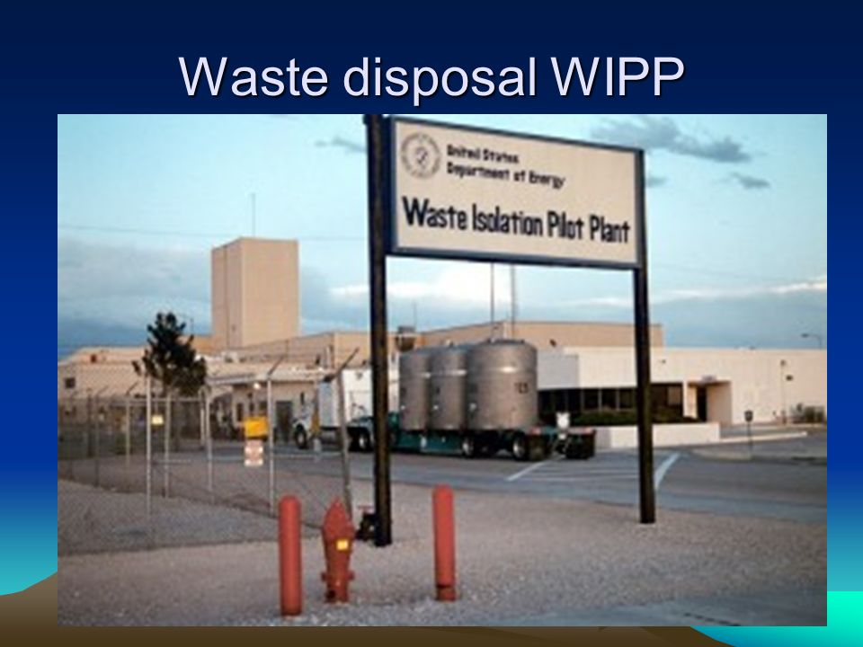 Waste disposal WIPP