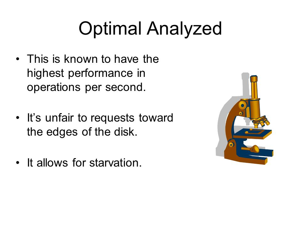 Optimal Analyzed This is known to have the highest performance in operations per second.