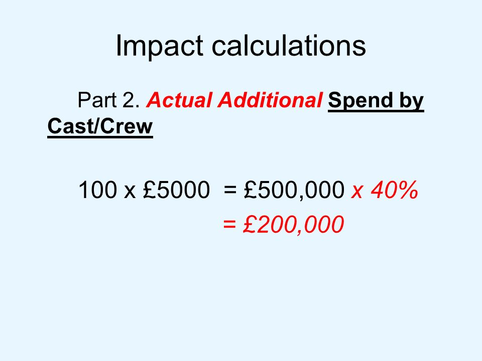 Impact calculations Part 2.