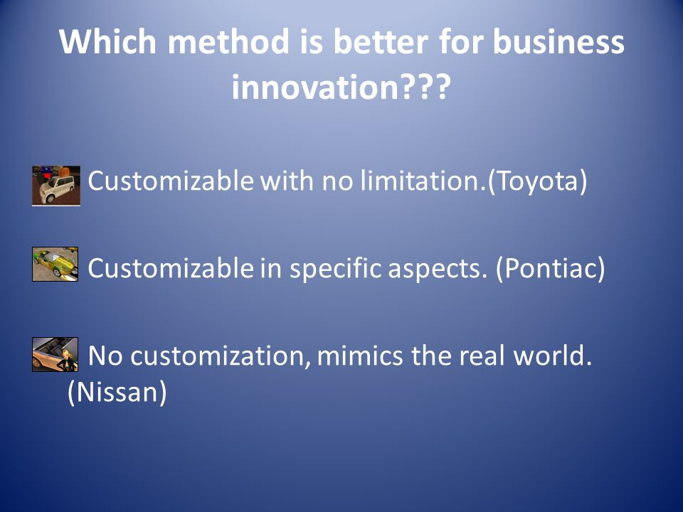 Which method is better for business innovation .