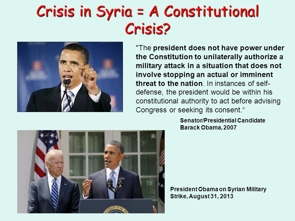 Crisis in Syria = A Constitutional Crisis.