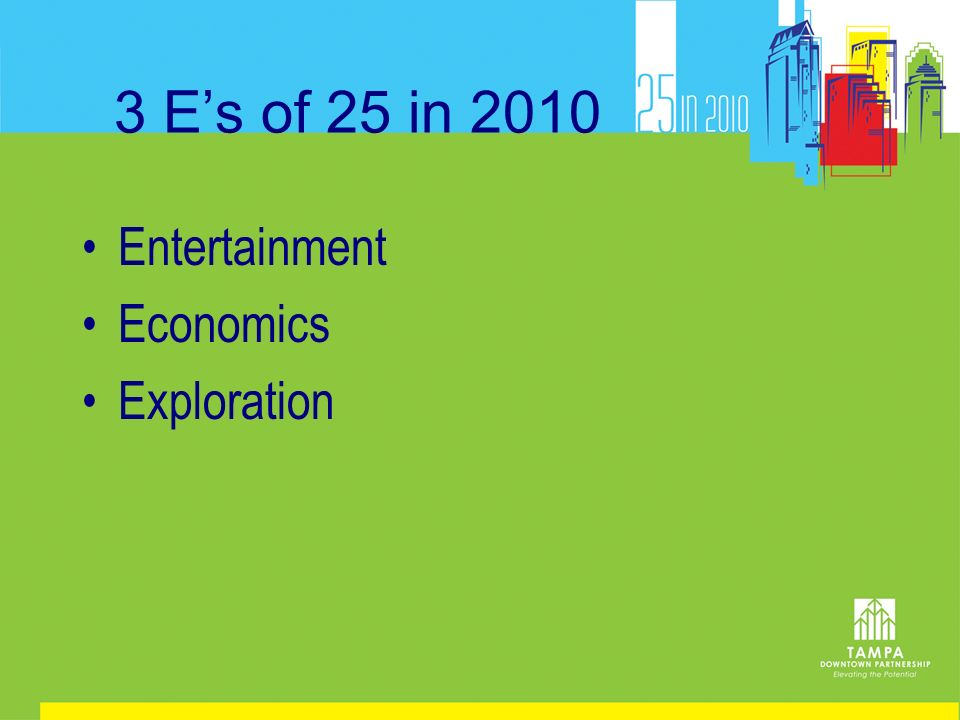 3 Es of 25 in 2010 Entertainment Economics Exploration