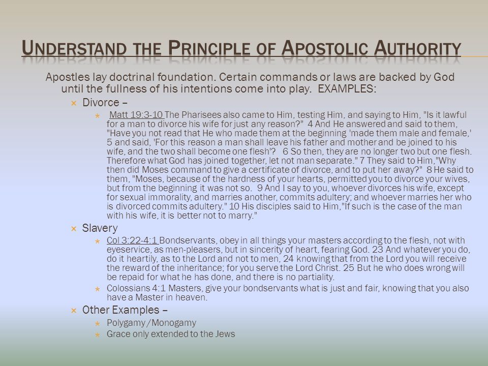 Apostles lay doctrinal foundation.