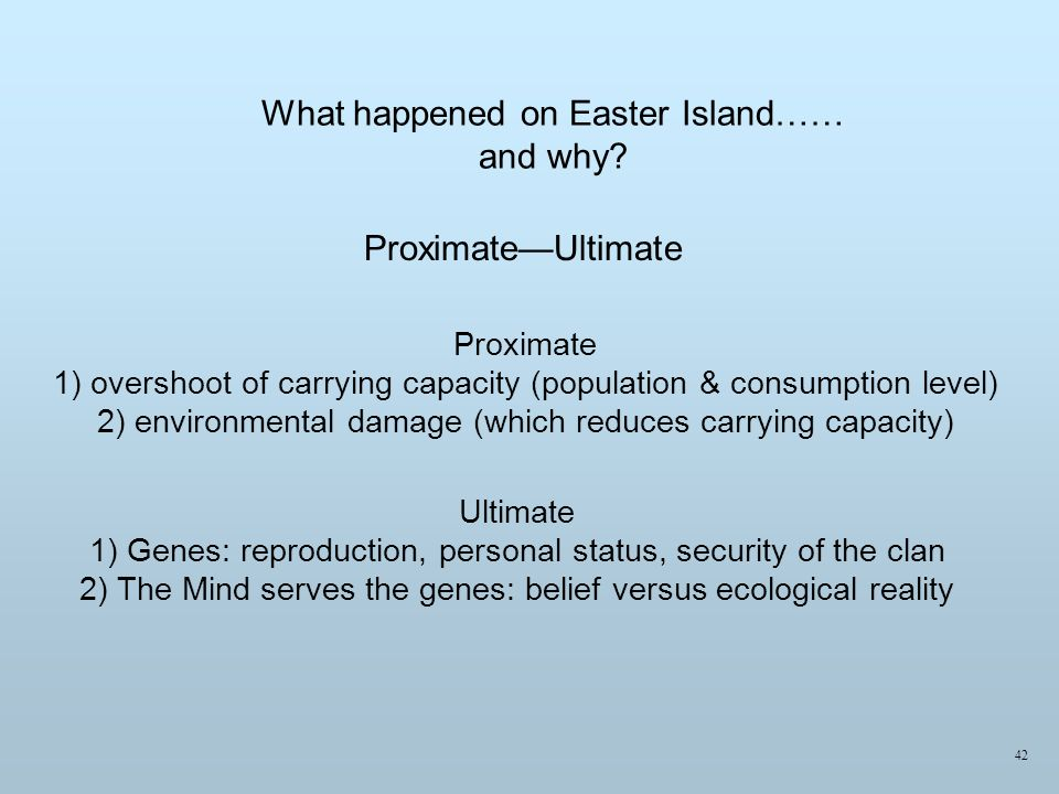 What happened on Easter Island…… and why.