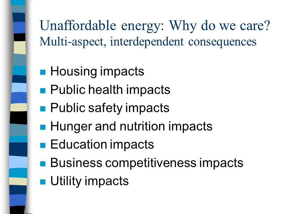 Unaffordable energy: Why do we care.