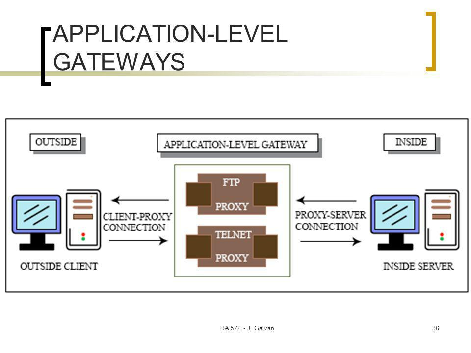 BA J. Galván36 APPLICATION-LEVEL GATEWAYS