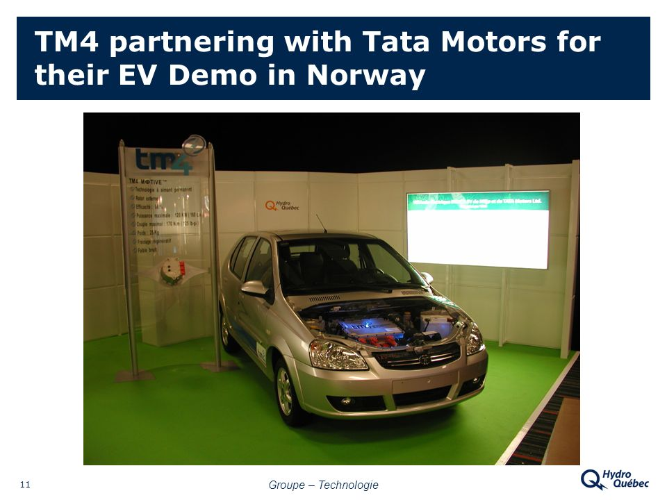 Groupe – Technologie 11 TM4 partnering with Tata Motors for their EV Demo in Norway