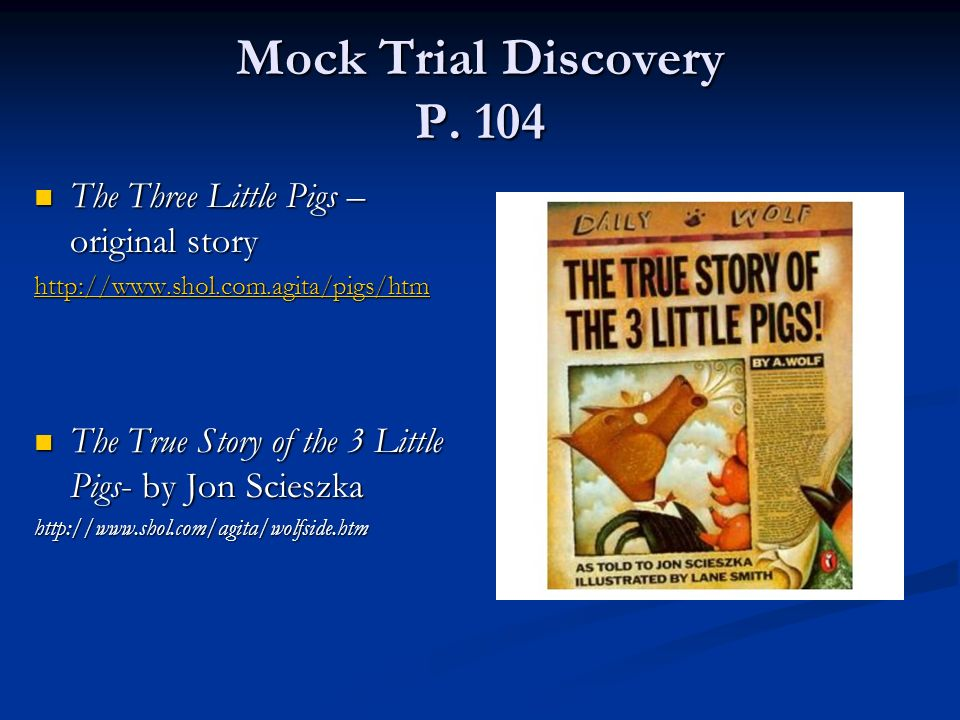 Mock Trial Discovery P.