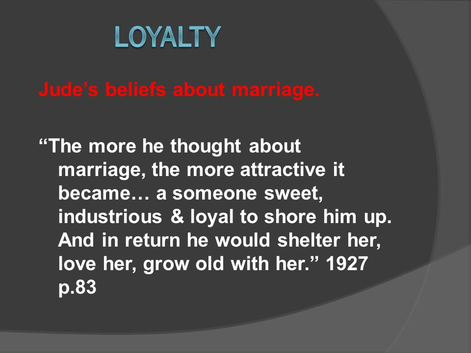 Judes beliefs about marriage.