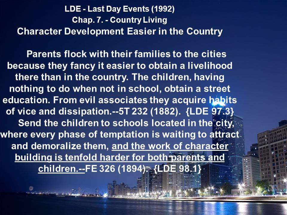 LDE - Last Day Events (1992) Chap. 7.