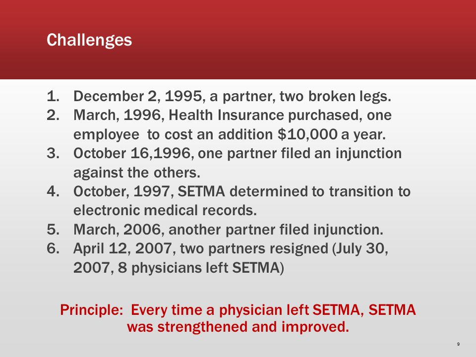 Challenges 1.December 2, 1995, a partner, two broken legs.