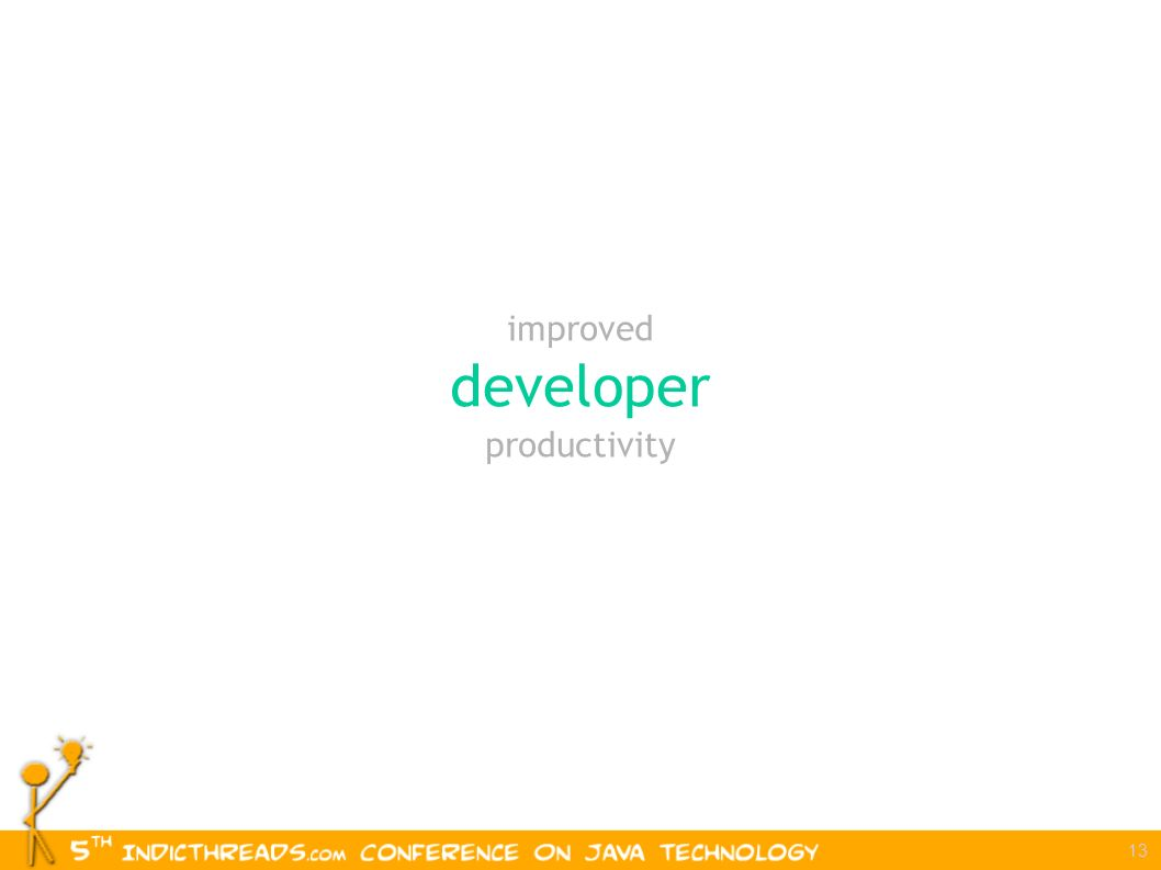 13 improved developer productivity