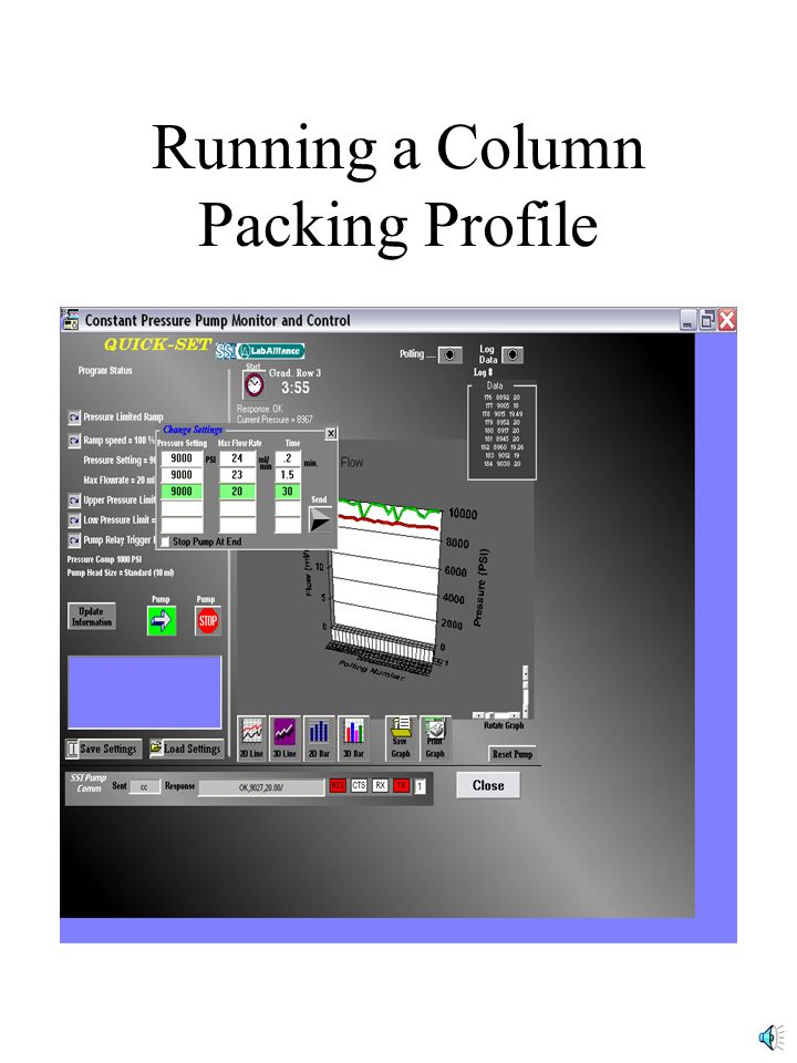 Running a Column Packing Profile