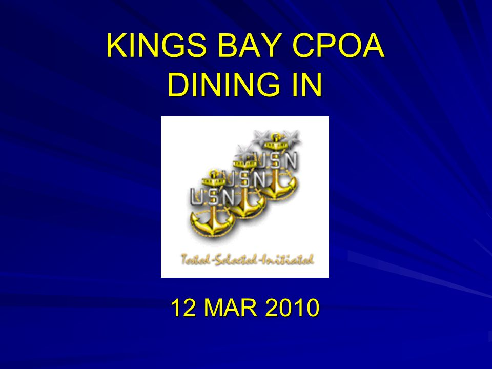 KINGS BAY CPOA DINING IN 12 MAR 2010
