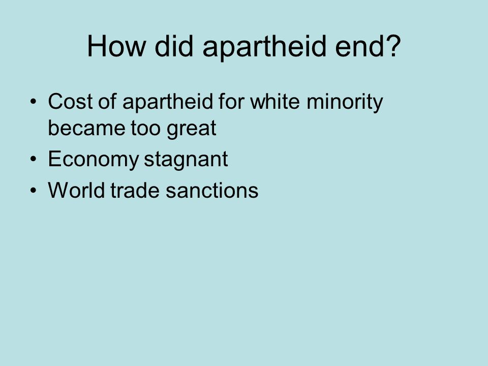 How did apartheid end.