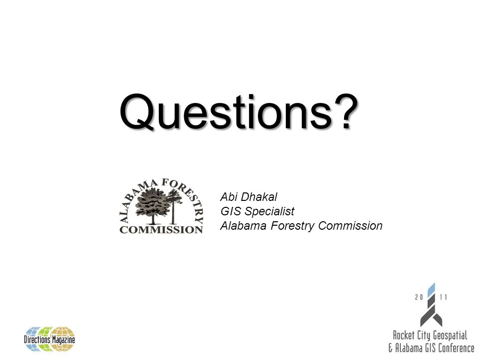 Abi Dhakal GIS Specialist Alabama Forestry Commission Questions