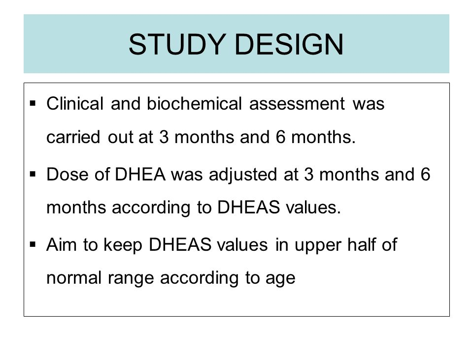 STUDY DESIGN Clinical and biochemical assessment was carried out at 3 months and 6 months.