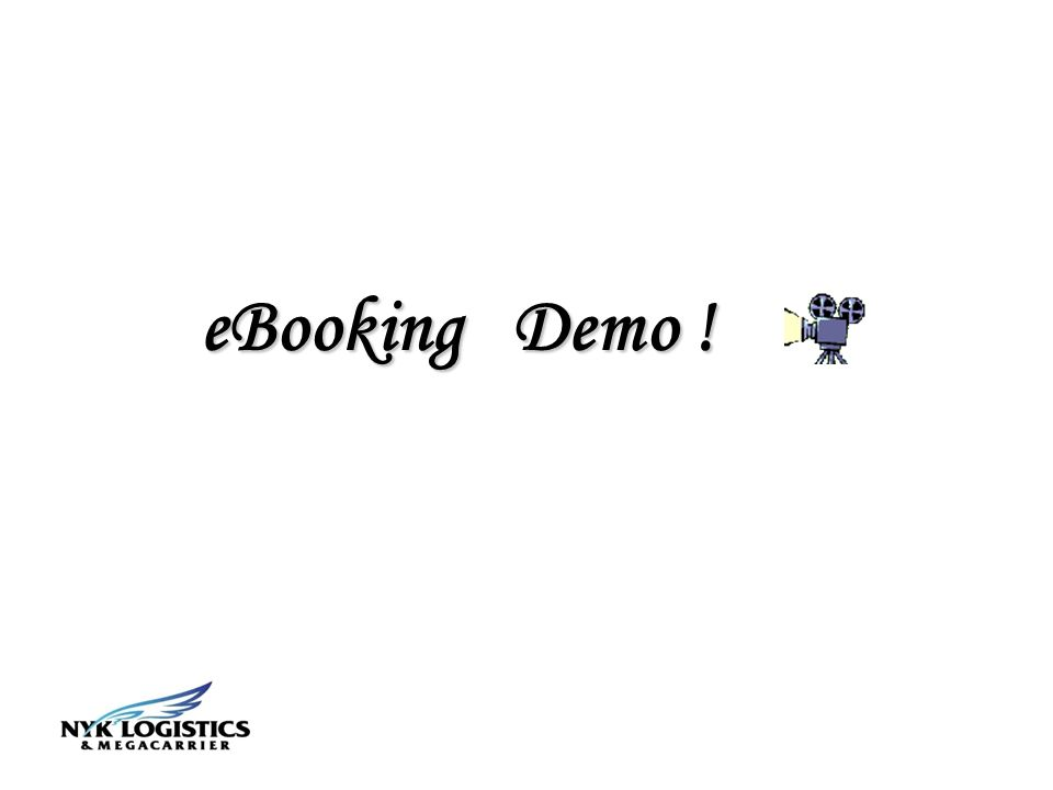 eBooking Demo !