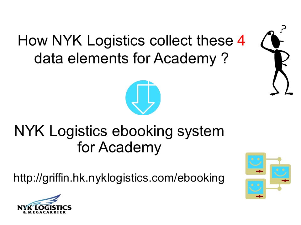 How NYK Logistics collect these 4 data elements for Academy .