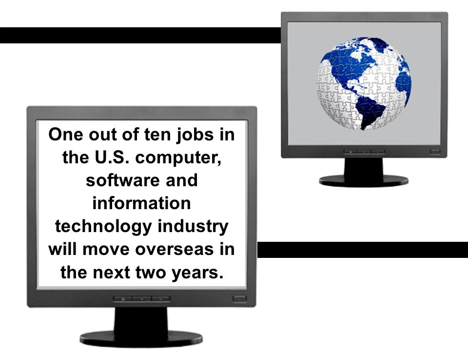One out of ten jobs in the U.S.