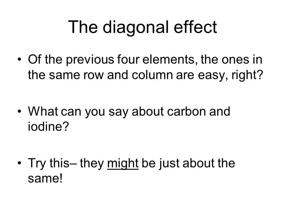 The diagonal effect Of the previous four elements, the ones in the same row and column are easy, right.