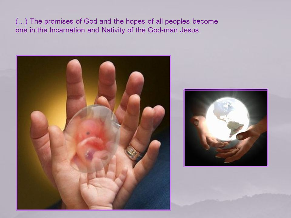 I n the Incarnation, the world is changed forever: God has come down, God has dwelt among us.