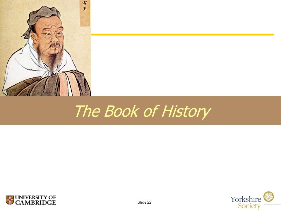 Slide 22 The Book of History
