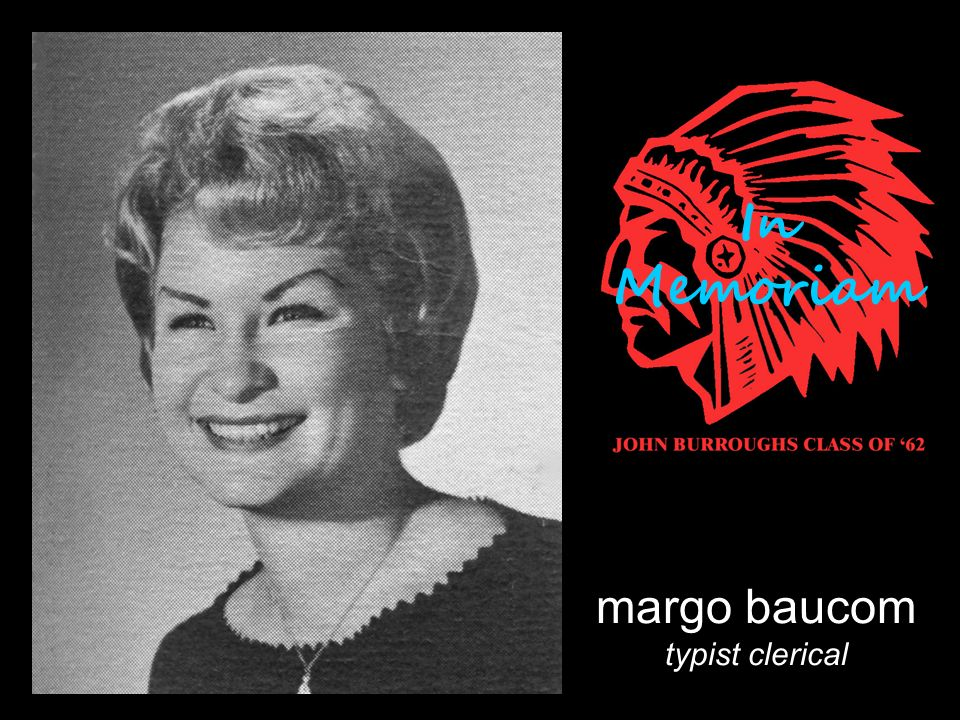 margo baucom typist clerical In Memoriam