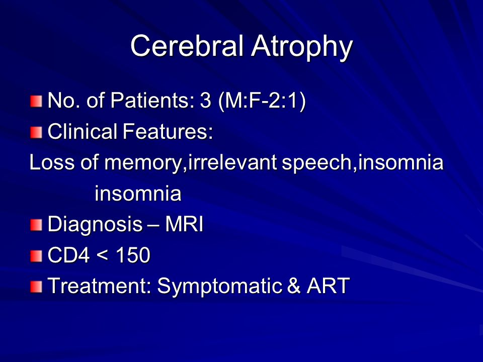Cerebral Atrophy No.