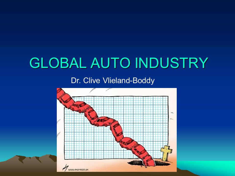 GLOBAL AUTO INDUSTRY Dr. Clive Vlieland-Boddy