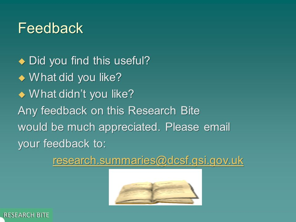 Feedback Did you find this useful. Did you find this useful.
