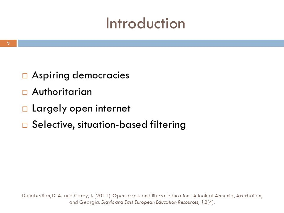 Introduction Donabedian, D. A. and Carey, J. (2011).