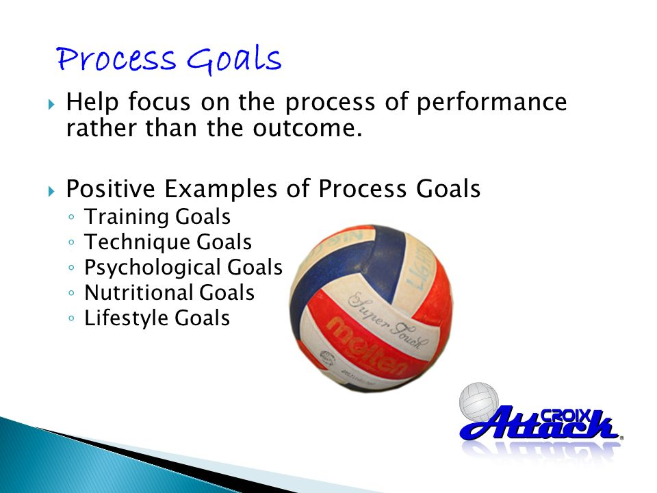 Help focus on the process of performance rather than the outcome.