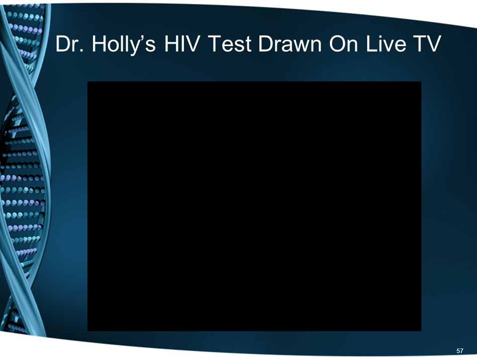 Dr. Hollys HIV Test Drawn On Live TV 57